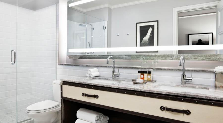 double sink guest bathroom