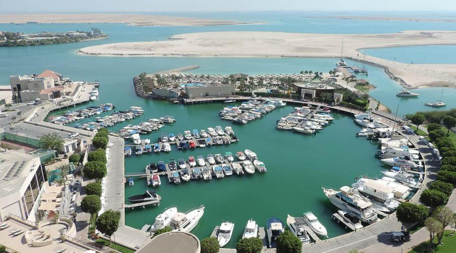 view from the hotel overlooking the marina
