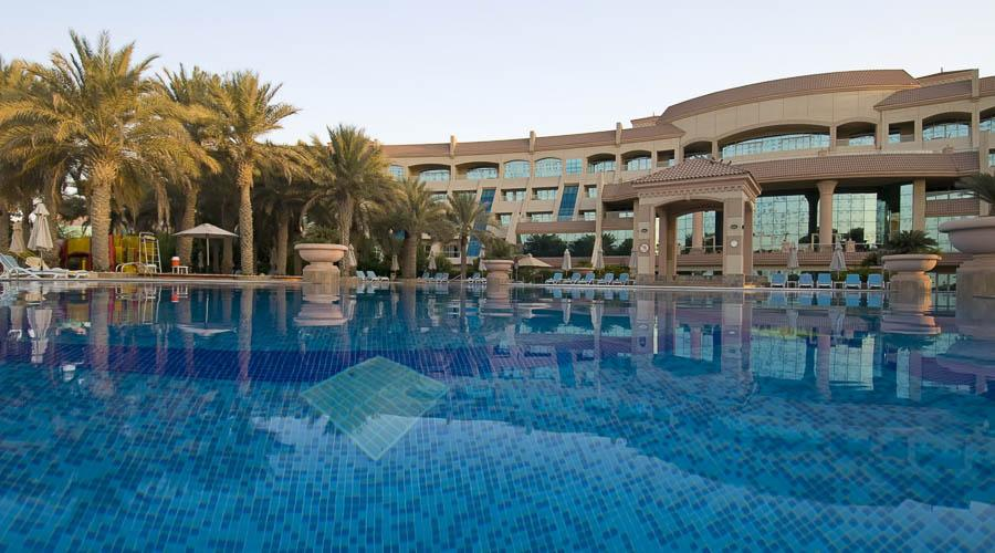 Main pool and front view of Al Raha